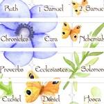 Bible Labels Bible Index Tabs Download Bible book labels Catholic tabs bible accessories paper tabs Butterflies Flowers Design 2019BT16