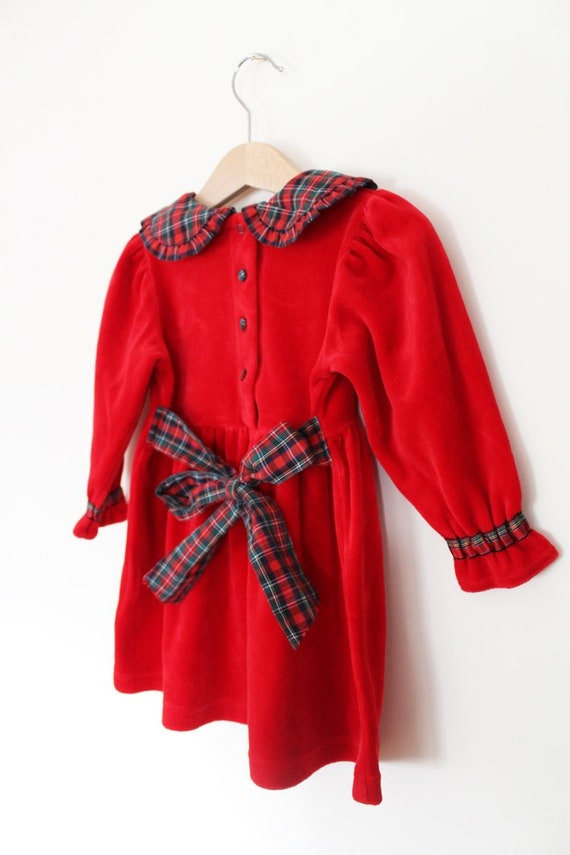 KIDS // Beautiful kids early 90s vintage red velve