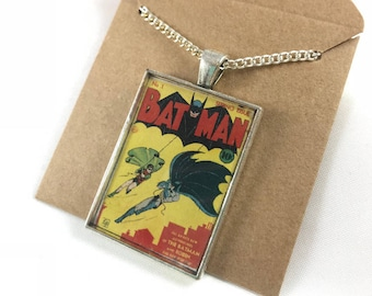 BATMAN first edition Resin Art necklace FREE SHIPPING