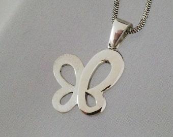 Sterling silver butterfly pendant