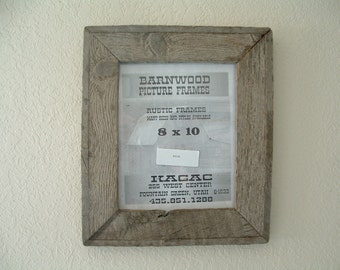 Rustic Barnwood Barn Wood Picture Frame, 8 X 10,  Rustic, Old Wood.
