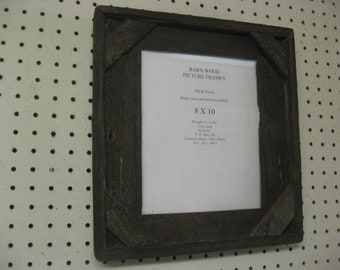 Rustic Barn Wood Picture Frame, 8 X 10 Boxed