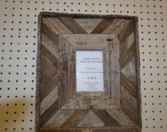 Rustic Barnwood 4 X 6 Fancy Barn Wood Picture Frame