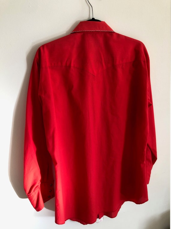 HOLD FOR Darren/Vintage bright cherry red western… - image 8