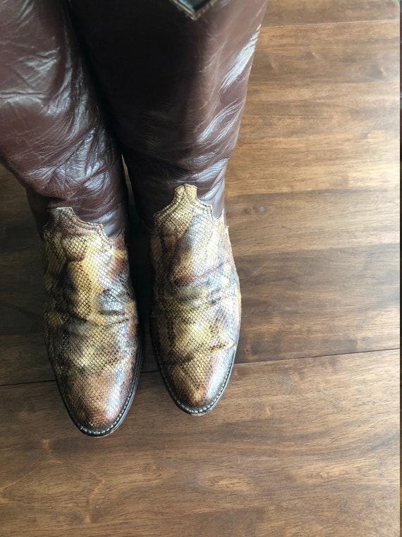 l'Ouest Larry bottes cow peau de Taille Vintage 510 couleur femmes serpent boy de Mahan 9 D2E9HIWYe