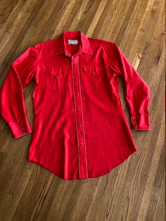 HOLD FOR Darren/Vintage bright cherry red western… - image 3
