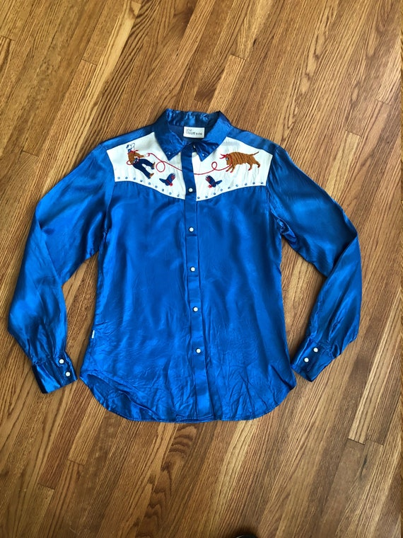 Rare vintage western Levi snap shirt/Rodeo/60's/si