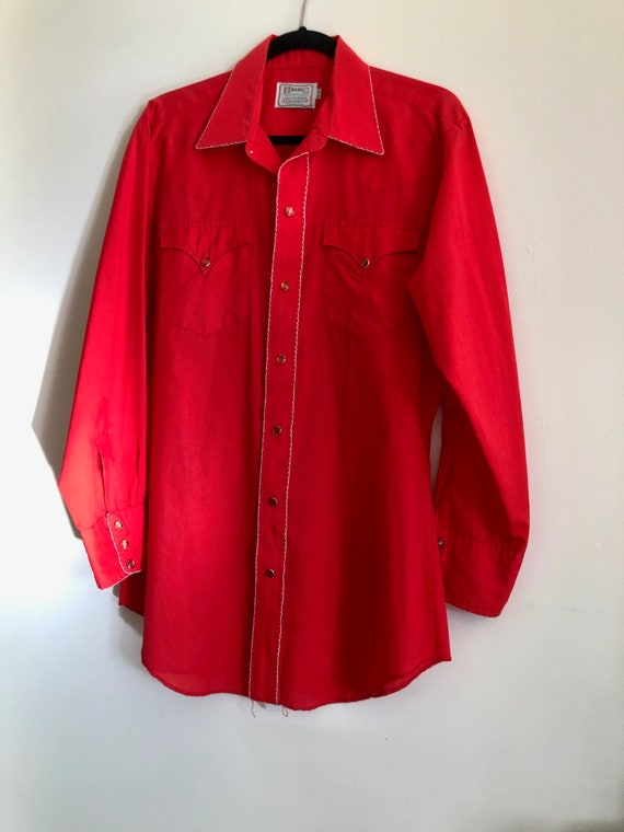 HOLD FOR Darren/Vintage bright cherry red western… - image 5