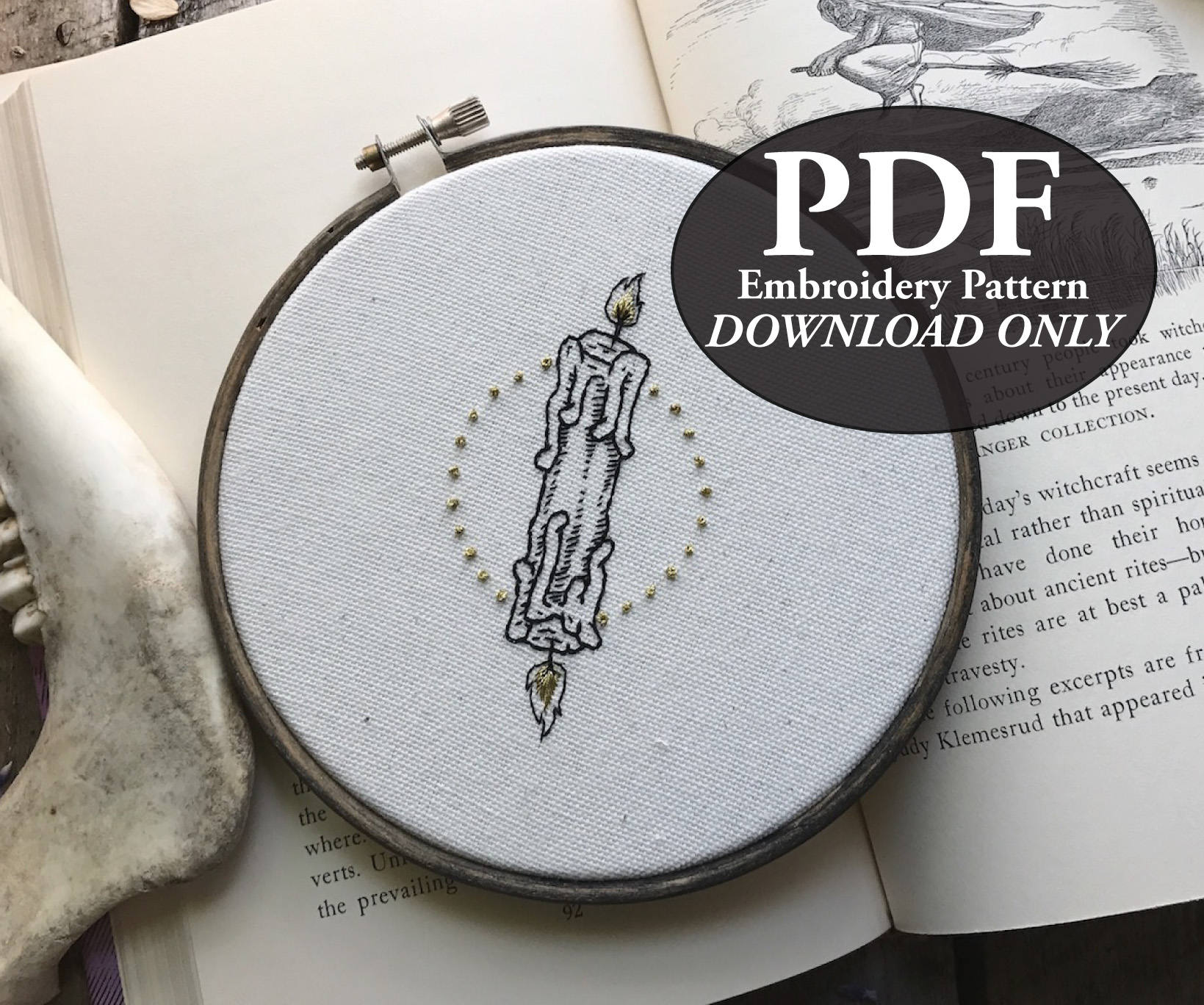 PDF Instant Download Pattern for Candle Burning at Both Ends | Etsy
