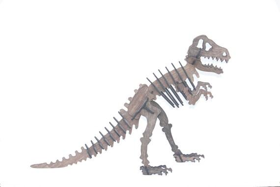 3D dinosaurios rompecabezas de T-Rex madera Jurásico | Etsy