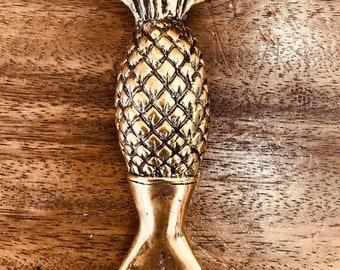 Solid Brass Pineapple Bottle Opener