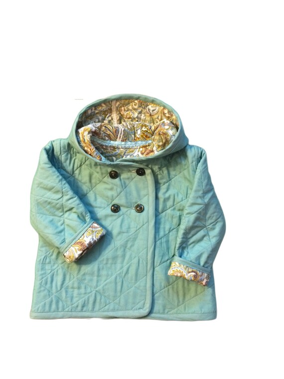 213155b6cb7d Quilted cotton spring jacket with hood for toddler girl or boy