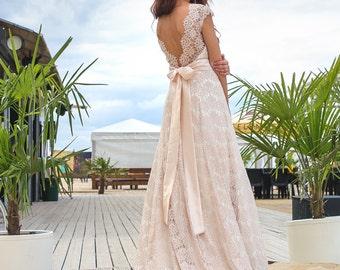 Cream wedding dress | Etsy