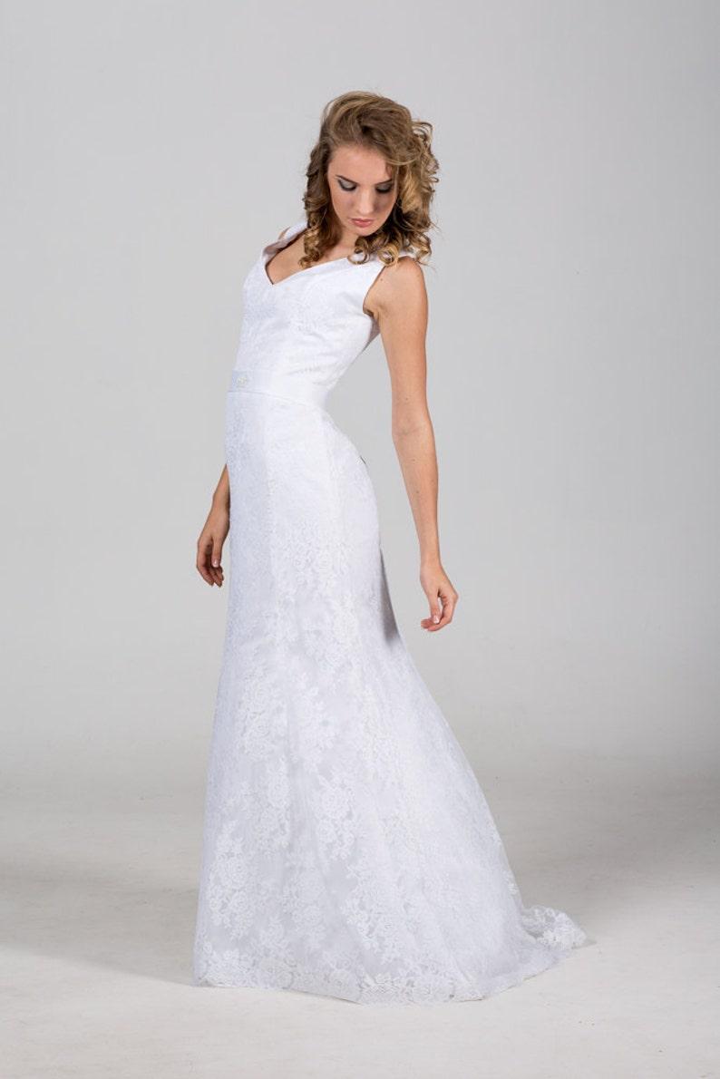 10b5ab89ee0 Elegant Lace Mermaid Wedding Dresses