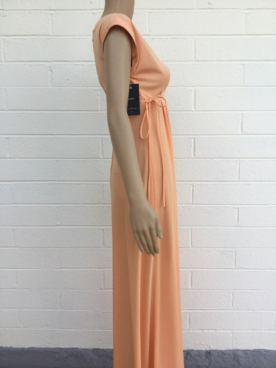 1970s polyester maxi dress - image 2