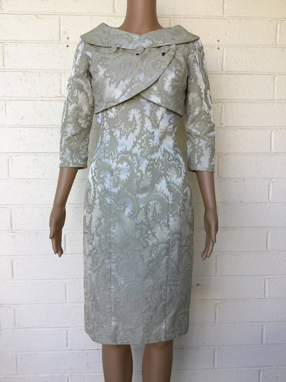 1950s early 1960s vintage Mardi Gras sheath dress
