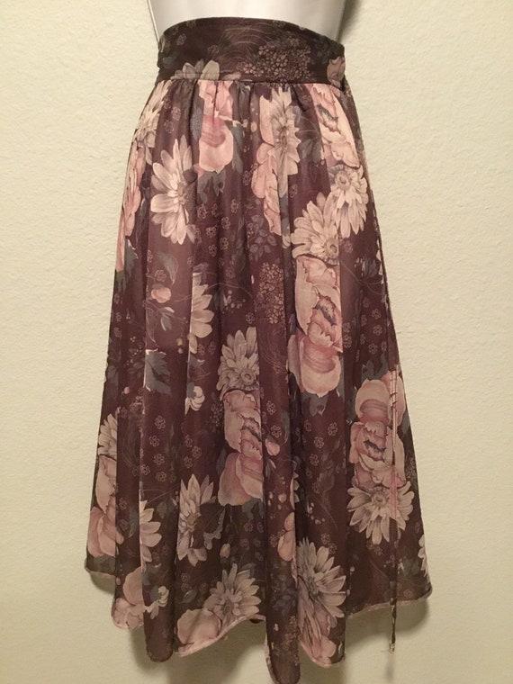 1970s sheer wrap skirt