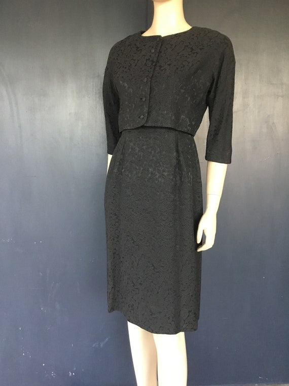 1950s Nelly Don petite dress with jacket