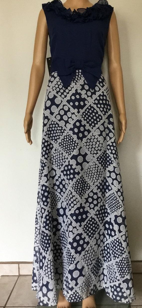 1970s Miss Elliette maxi dress