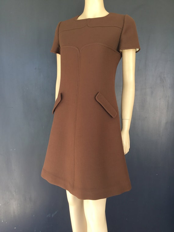 1960s Courréges cocoa brown Dress