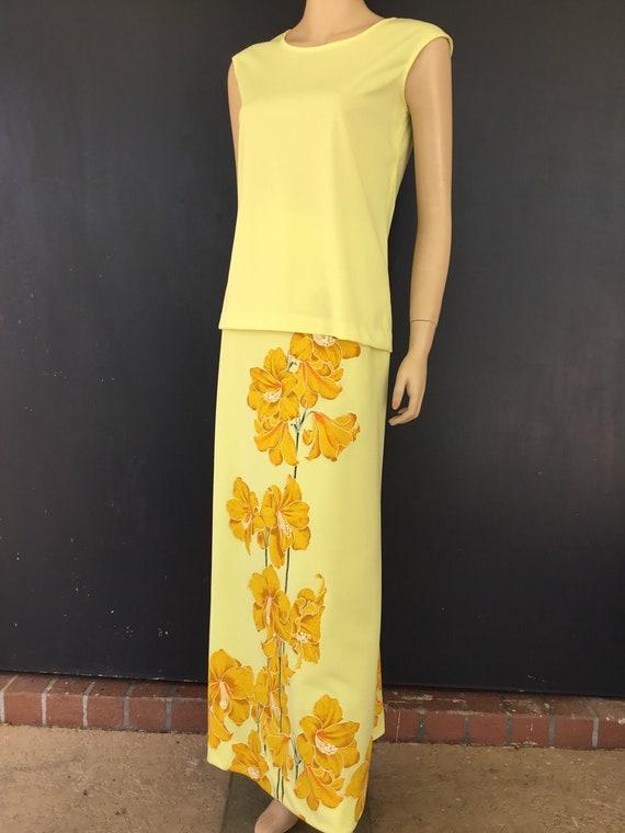 1970s Miss Shaheen two piece dress