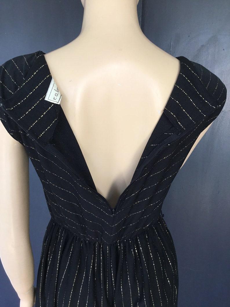 1970s black and gold r.a Landau jumpsuit