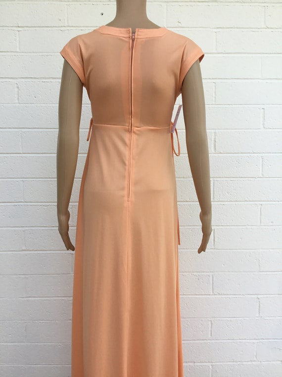 1970s polyester maxi dress - image 3