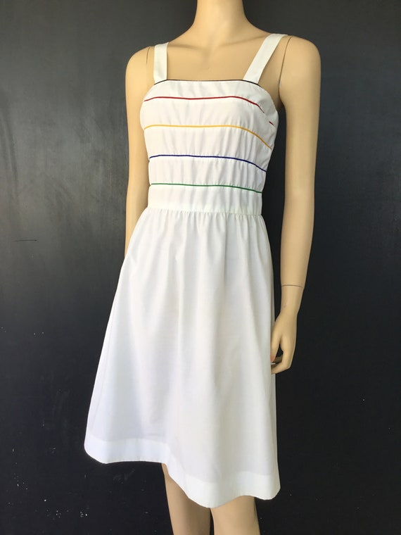 1980s Act I NY white sundress
