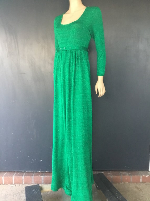 1970s Ronnie Original knit maxi dress