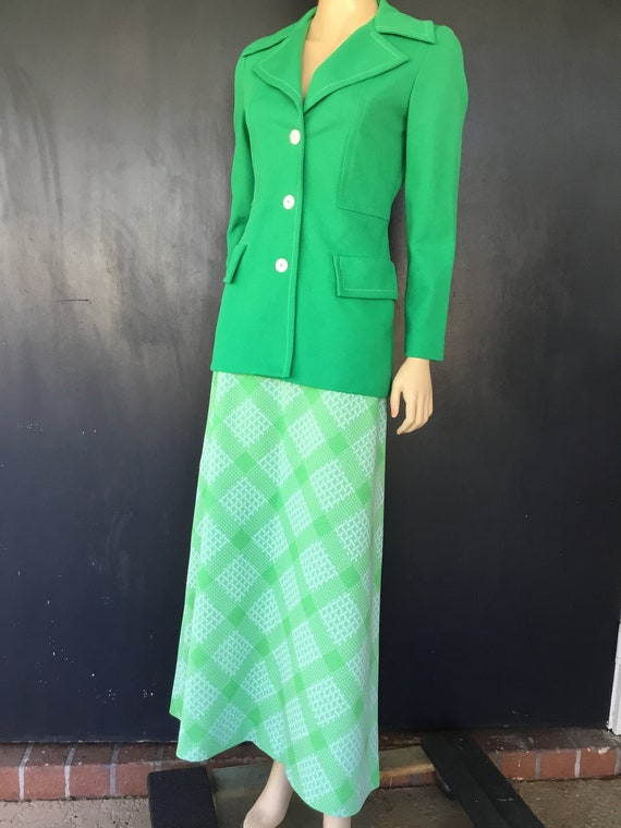 1970s Koret of California two piece maxi dress