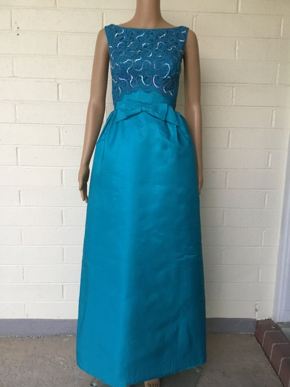 1960s formal gown