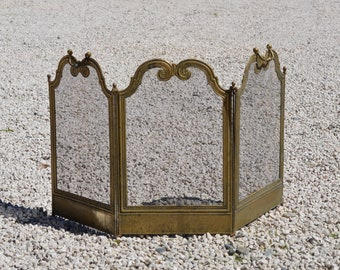 Antique Fireplace Screen >> Antique Fire Screen Etsy