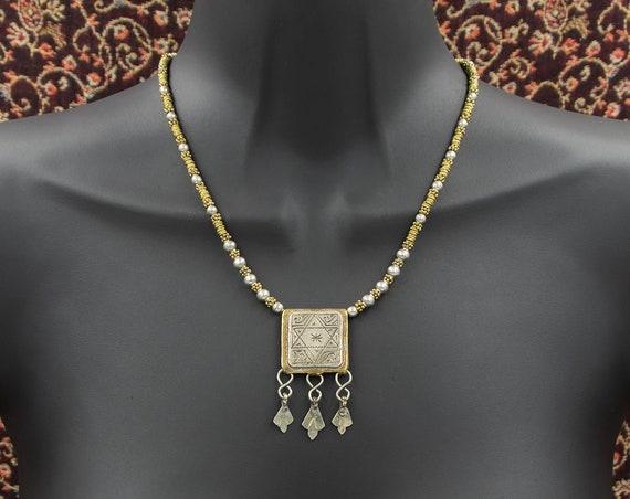 Moroccan Berber prayer box amulet necklace
