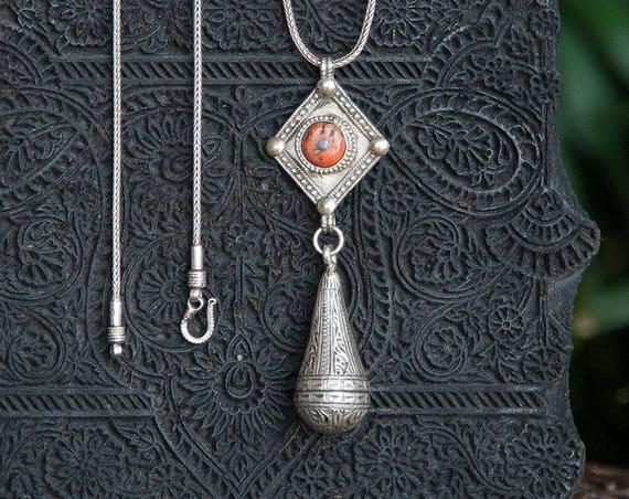 Long boho tribal necklace