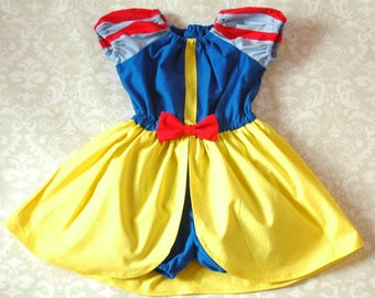 82fb6036b253 Snow White Princess Romper Dress