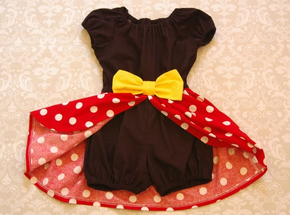 7396e291425 Minnie Mouse Romper Dress Red Minnie Mouse Minnie Mouse