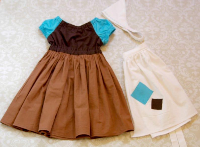 Disney Vacation Dress and Apron Cinderella Birthday Party Girls Dress Cinderella Maid Dress Cinderella