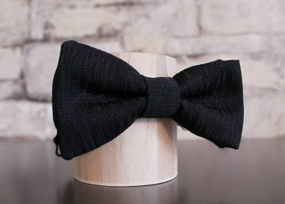 Black and White Printed Chiffon Fabric Bow Tie by Kowalski Neckwear Pre-Tied with Adjustable Length  Self-Tie Adult and Children/'s Sizes