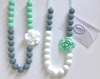 Teething Necklace for Mom | Nursing Necklace | Teething Necklace | Bite Beads Necklace | Chewlery | Silicone Necklace Teether | Choose Color