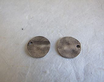 Set of 2 charm in antique silver sequins