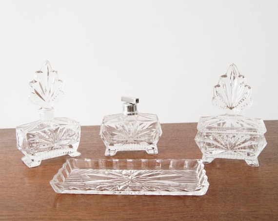 Crystal Bottle, Dressing Table, Bottle Set, Perfume Atomizer