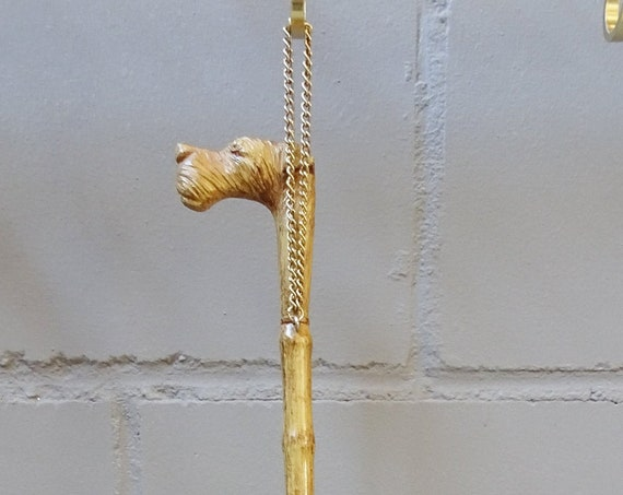 Back scratcher with dog head 1950s, scratch inge, scratch inge