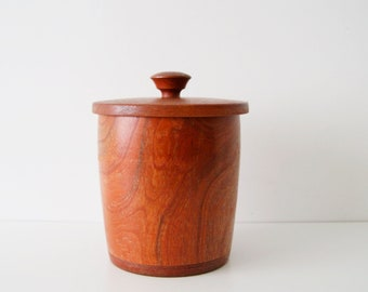 Ice cooler teak 1960s ice bucket, wooden bottle cooler, bar accessories
