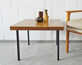 square coffee table with Viennese braid, 60's side table