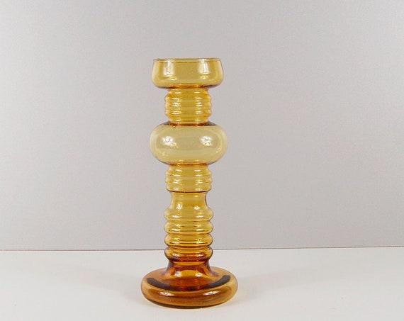 Ingrid Glass Vase Amber, Glass Vase, Glass Art, Mid Century Vase, Amber