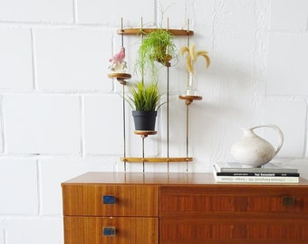 hanging plant stand, flower shelf, wall etagere for flowers