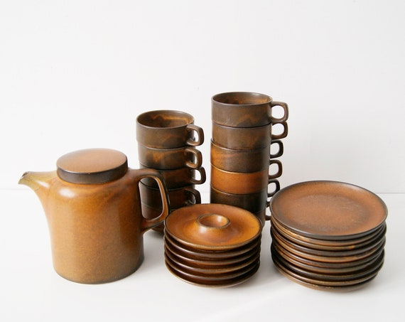 Coffee service 28 pieces by Ceramic Work Heisterholz Design Heinz Engler Sompex Tekton 200