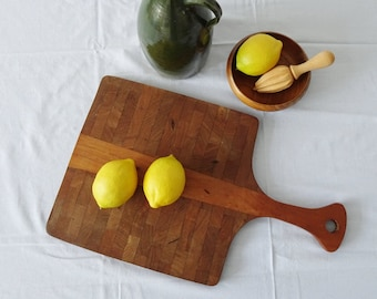 Wooden cutting board, old wooden board, large cutting board for hanging