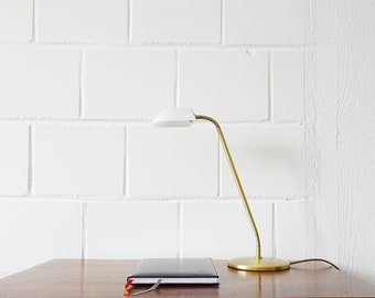Table lamp by Bankamp Luminaires made of brass and frosted glass