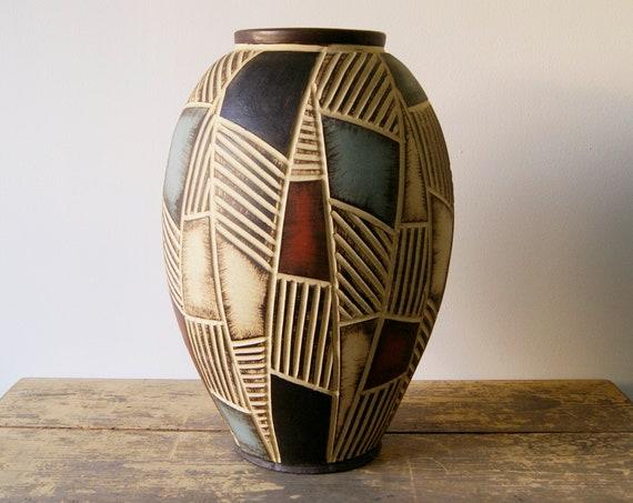 Vase large 50 cm, vase mid century, Eiwa Vase, Bach-Wagner